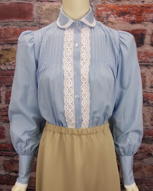 Ladies High Neck Victorian Blouse-CL446 - Blanche's Place