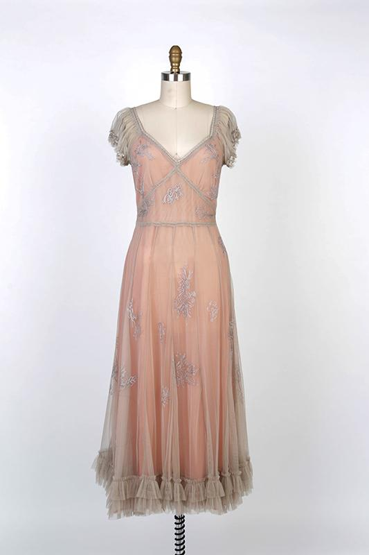 Romantic Victorian Downton Abbey Inspired Antique Mauve Dress-40192 M - Blanche's Place