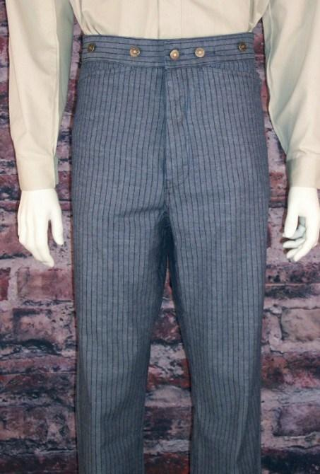 Men's Old West Stripped Denim Pants-CM831 - Blanche's Place