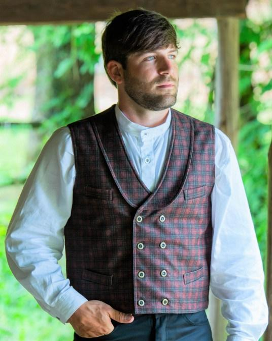 Men's Vintage Old West Deadwood Vest-CM5922 - Blanche's Place