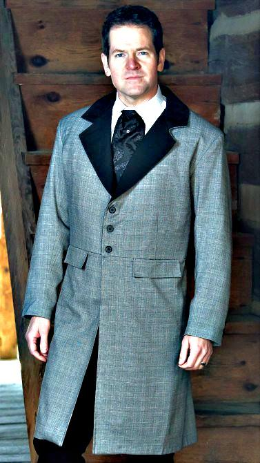 Men's Old West Victorian Santa Fe Frock Coat-CM9336 - Blanche's Place