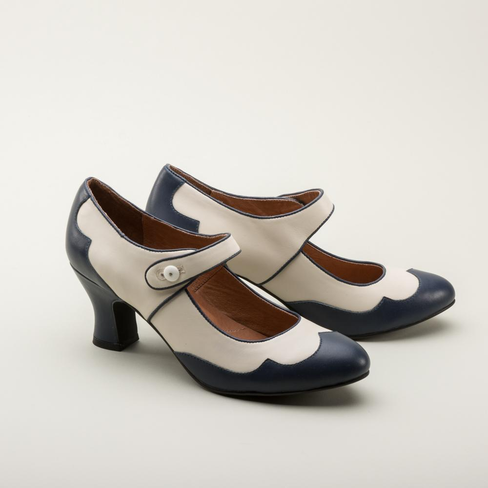 Ladies 1920's Vintage Inspired Reproduction Spectator Shoes-Lillian - Blanche's Place