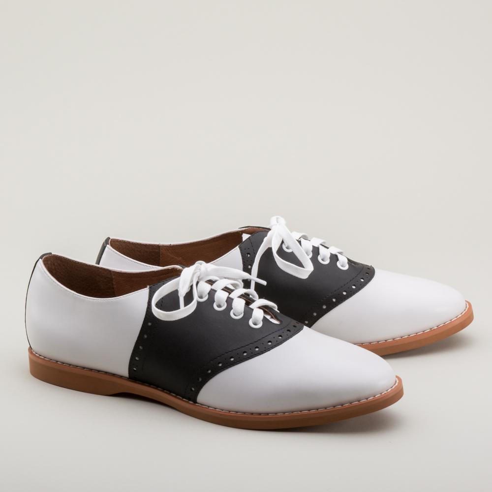 Darling Vintage Inspired Classic Saddle Shoes-Susie - Blanche's Place