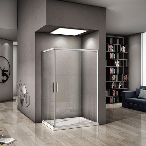 700-1000mmx1850 Double Doors,Corner entry sliding shower cubicle,Tray Optional