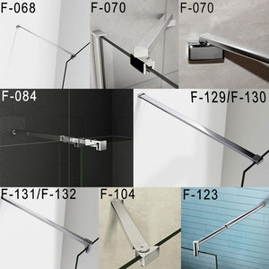 Support bar for wet room screen walk in shower enclosure,various sizes