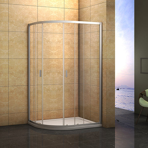760-1200mmx1850 Offset Quadrant Enclosure Corner Cubicle,Shower Tray Optional