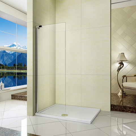 680x1850mm Wet Room Shower Screen Enclosure Walk In 6mm Tempered Glass Panel
