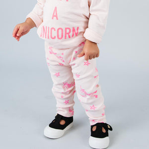 Kira Kids light pink unicorn leggings pants baby babies audrey and olive maternity clothes shop the woods san francisco