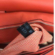 Load image into Gallery viewer, Gucci Orange Leather Bamboo Daily Handbag