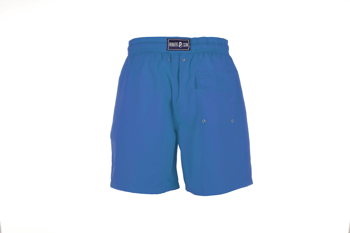 Blue Plain - Men's Designer Swim Shorts - Back