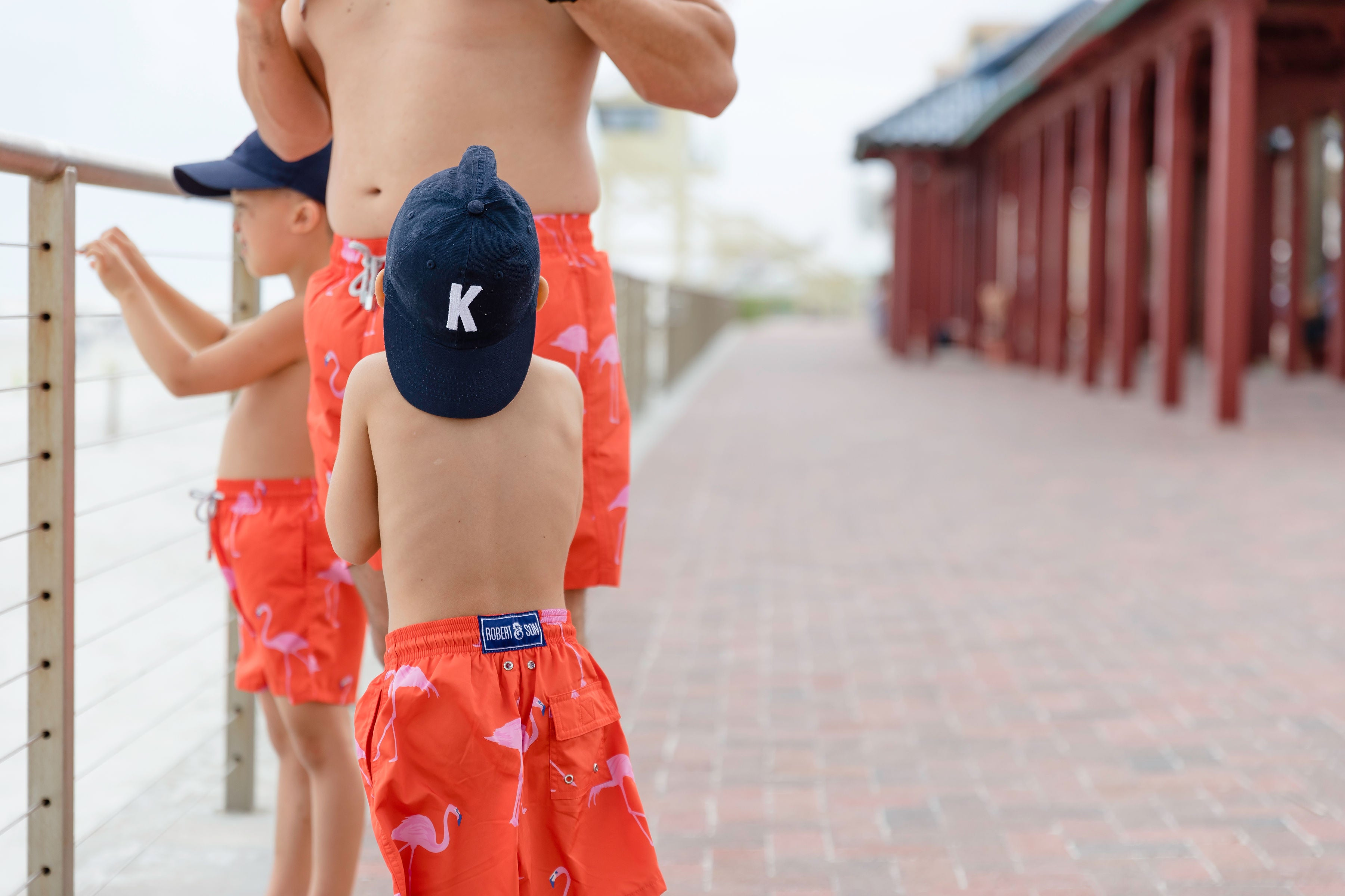 Red Flamingos - Boys Swim Shorts