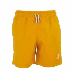 Father and Son Designer Swim Shorts, Yellow Plain