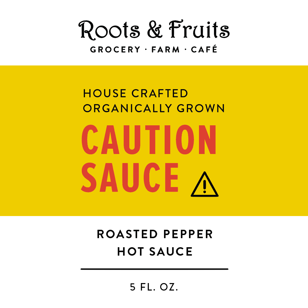Cautionsauce - Organically Grown Hot Pepper Sauce