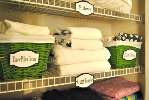 Bathroom Labels, Linen Closet Labels, Printable Organization Labels - PDf