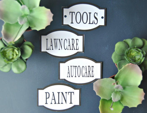 Garage Labels, Printable Organization Labels - PDF