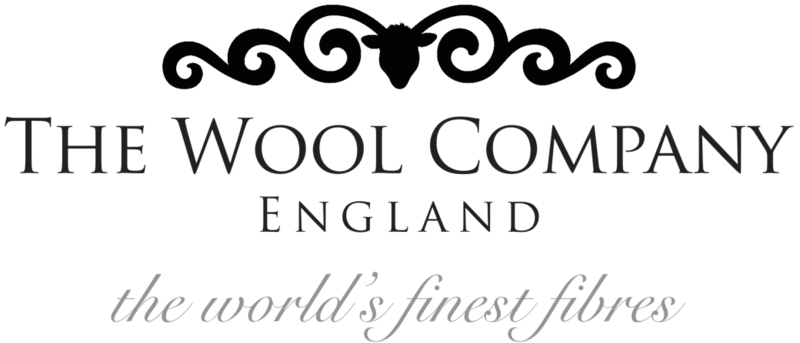 The Wool Company, England, World's Finest Fibres Logo showing Ram's Head With Fleecy Horns