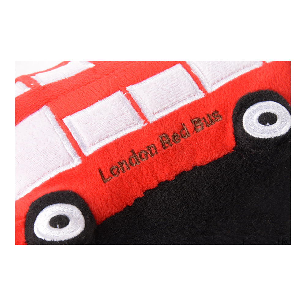 children's london red bus cushion and soft toy