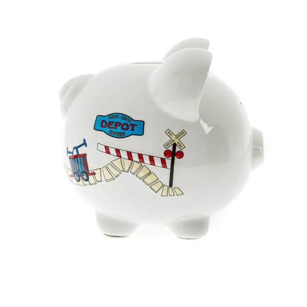 childrens train piggy bank