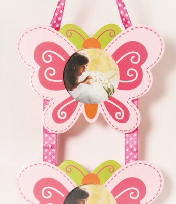 childrens butterfly photo frame set