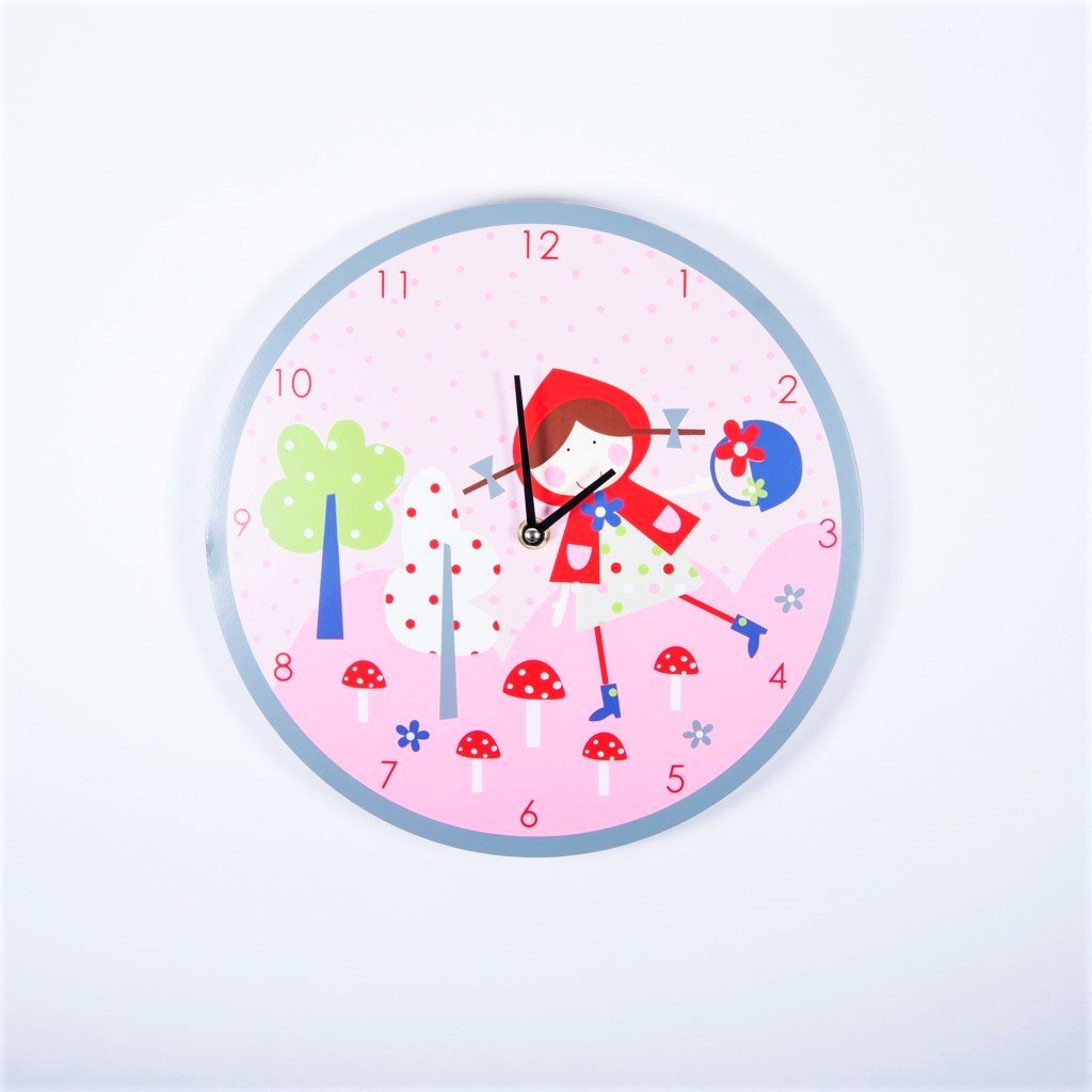 gisela graham strawberry patch wall clock