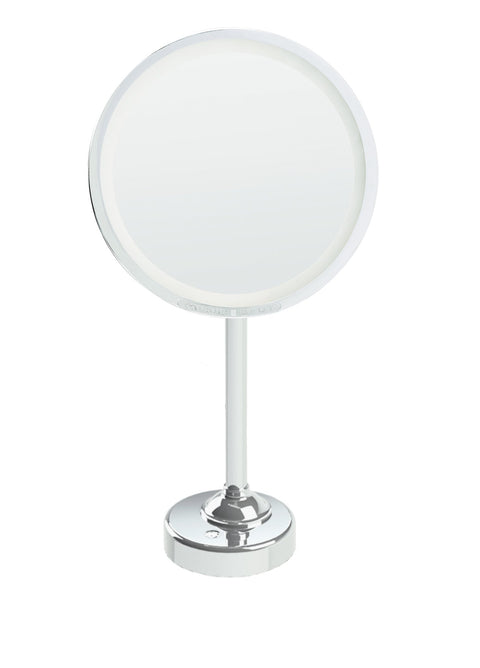 Lighted Chrome Magnifying Makeup Mirror by Brot