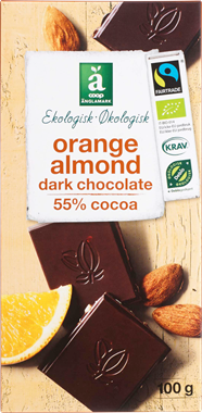 Änglamark Orange & Almond Chocolate - NordicExpatShop