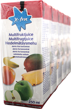 X-tra Multi fruit 5 pack - NordicExpatShop