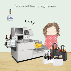 'Unexpected Item in Bagging Area' Card