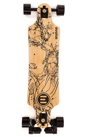 Evolve GT Bamboo electric skateboard with 83mm street wheels