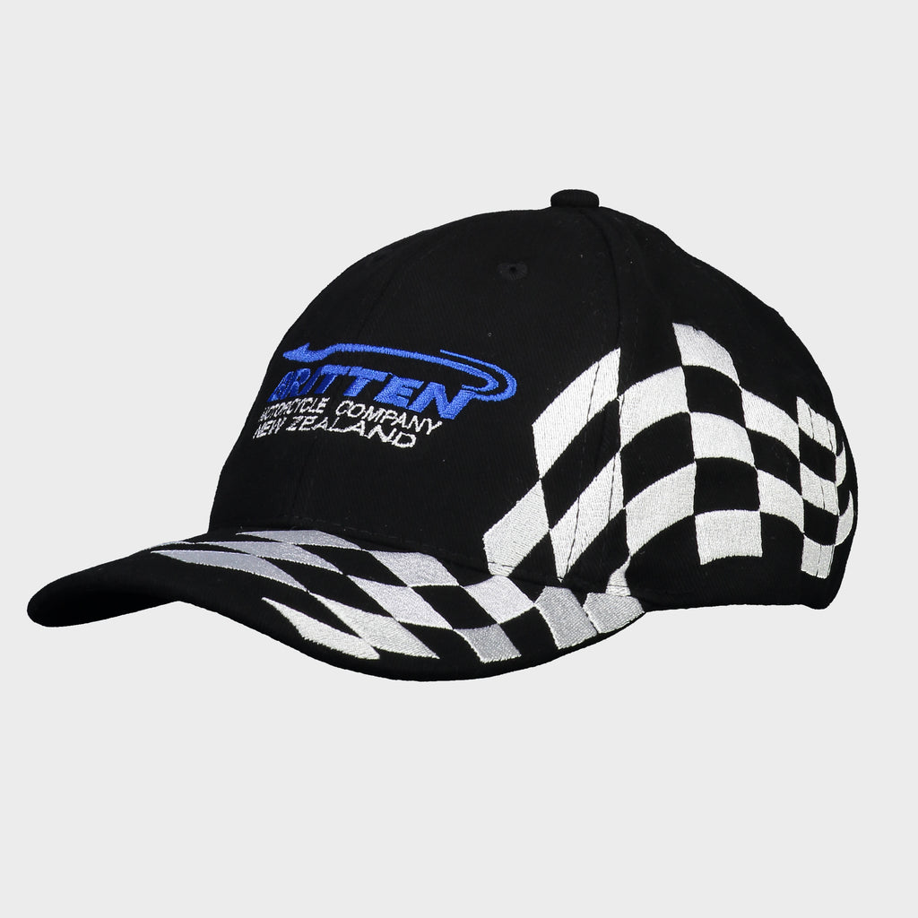 Embroidered Flag Cap - Blue