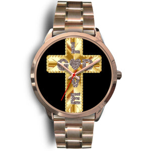 Rose Gold Love God Watch with your choice of designer band