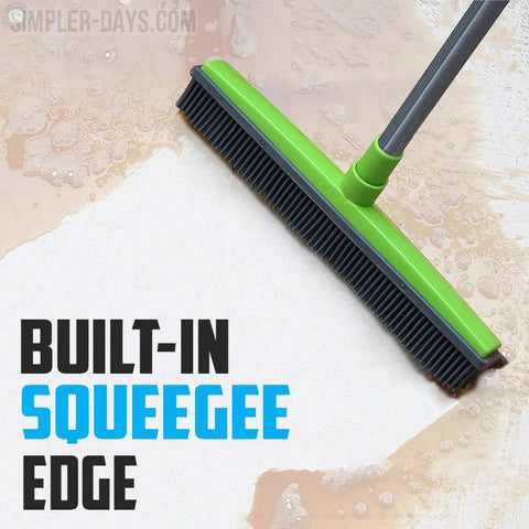 The build-in silicone squeegee edge allows you to nearly clean up everything.