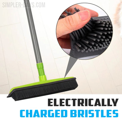 Electrically Charged Bristles work to lift hair and dust from a variety of hard and soft surfaces.