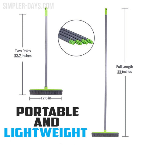 Our Miracle Broom is Adjustable, lightweight and portable.