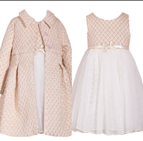 Brocade Coat Set for Little Girls