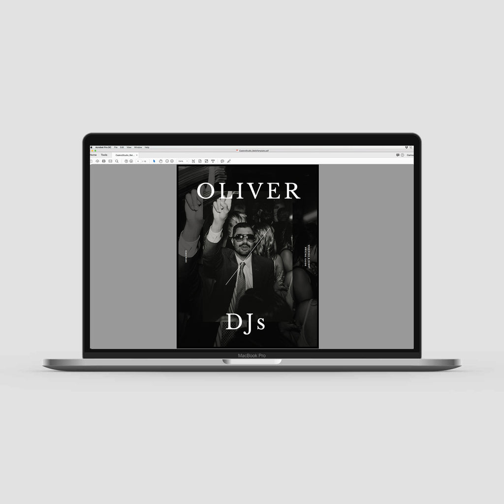 Professionally designed and customizable pricing guide template for DJ's.