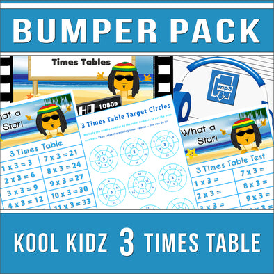 3 Times Table Bumper-Pack
