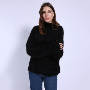 Turtleneck Mohair Sweater
