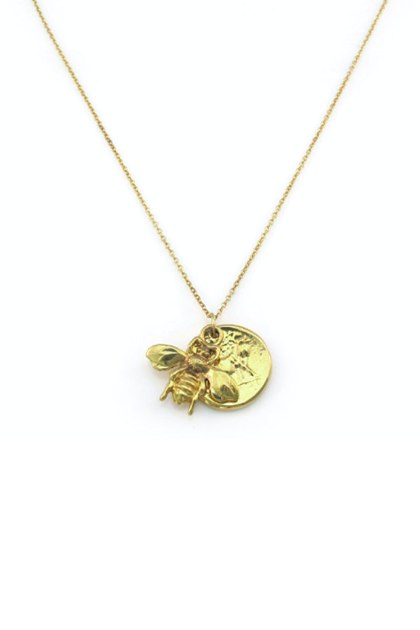 BEE MINE COIN NECKLACE