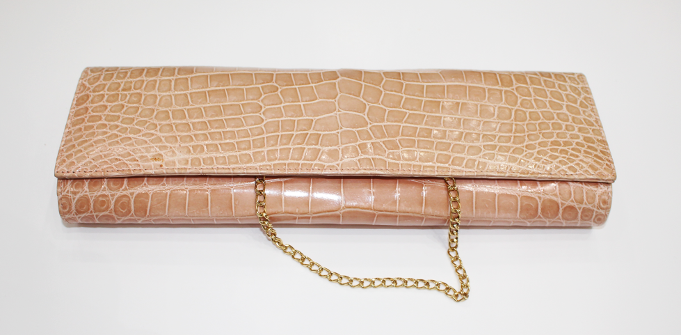 Shiny Alligator Evening Clutch