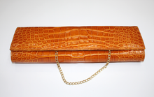 Load image into Gallery viewer, Shiny Alligator Evening Clutch