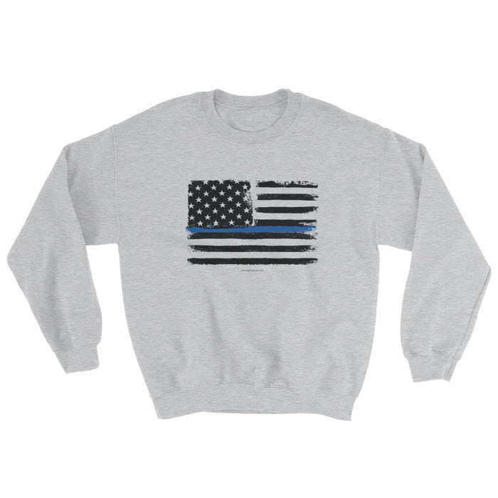 Thin Blue Line Flag Police/LEO Support Sweatshirt
