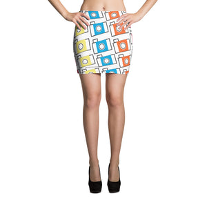 Colorful Camera Pattern (photographer) Mini Skirt