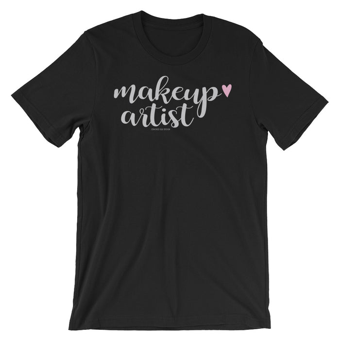 """Makeup Artist"" with small pink heart Short-Sleeve Unisex T-Shirt"