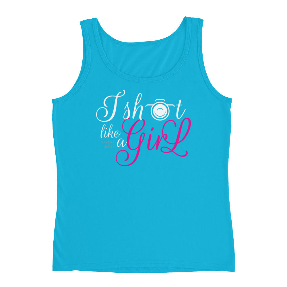 I shoot like a girl (photographer) Ladies' Tank