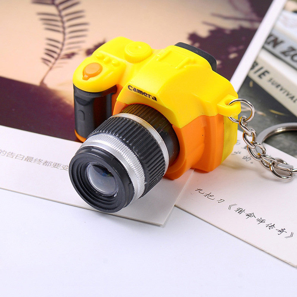 Cute Mini Toy Camera/photographer Charm Keychain With Flash Light & Sound