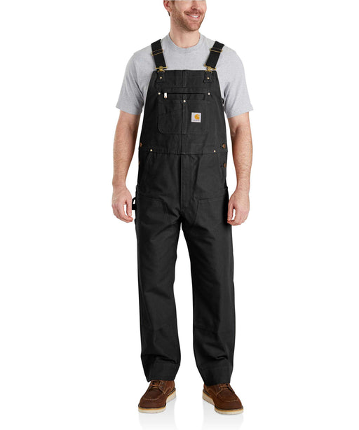 Carhartt NEW R01 Duck Bib Overalls - 102776 - Black