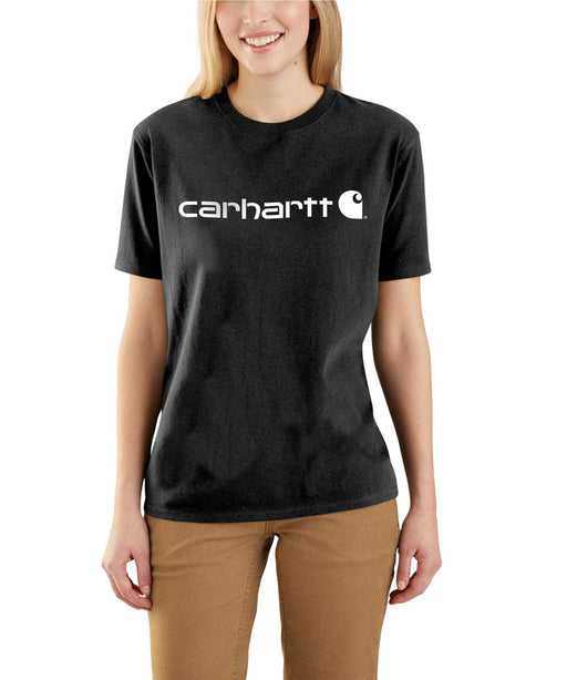 Carhartt Women's WK195 Short Sleeve Logo T-Shirt – Black