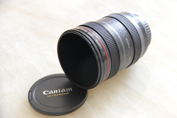 Camera Lens Coffee Mug With Lid