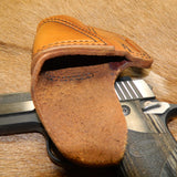 Gary C's Avenger Right Hand Holster for Sig Sauer P938 / P238 with Sweat Guard. Antiqued Golden Brown Leather. S-059